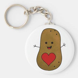 Glückliche Valentine-Kartoffel, Liebe und Herzen Schlüsselanhänger
