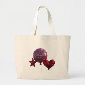 Glückliche Valentinstag-Ballone Jumbo Stoffbeutel