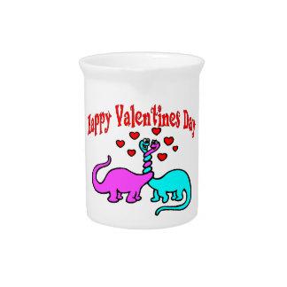 Glückliche Valentinstag-Dinosaurier-Liebe Getränke Pitcher