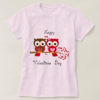 Glückliche Valentinstag-Eulen-Liebe T-Shirt