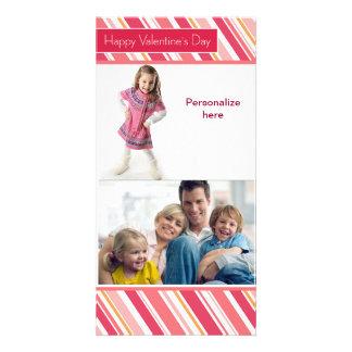 Glückliche Valentinstag-Familien-Karte Individuelle Photo Karte
