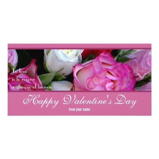 Glückliche Valentinstag-Foto-Karte Bild Karte