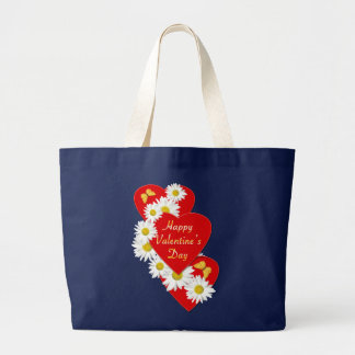 Glückliche Valentinstag-Gänseblümchen-Tasche Jumbo Stoffbeutel