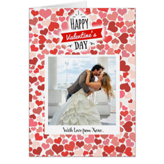 Glückliche Valentinstag-Herzen Karte