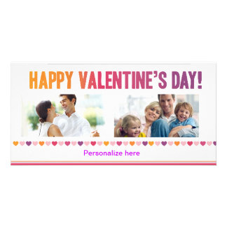 Glückliche Valentinstag-Karte Foto Karte