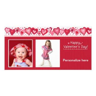 Glückliche Valentinstag-Karte Fotokarte