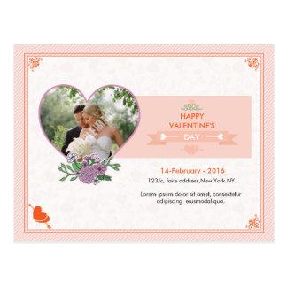 Glückliche Valentinstag-Postkarte Postkarte