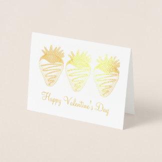 Glückliche Valentinstag-Schokolade tauchte Folienkarte