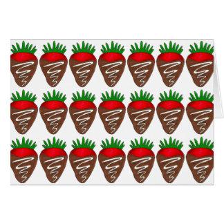 Glückliche Valentinstag-Schokoladen-Erdbeerkarte Karte