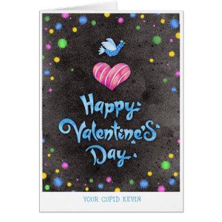 Glückliche Valentinstag-Typografie-niedlicher Karte