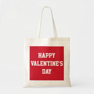 Glückliche Valentinstagvalentine-Taschen Budget Stoffbeutel