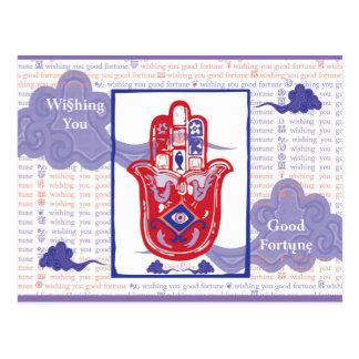 Glückliche Vermögens-Postkarte Postkarte