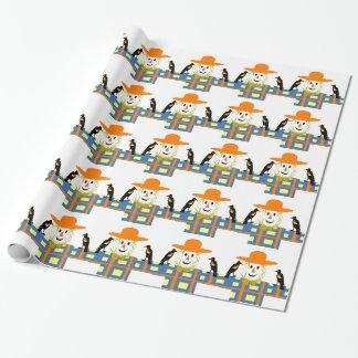 Glückliche Vogelscheuche Geschenkpapier