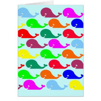 Glückliche Wale leeres Notecard Karte