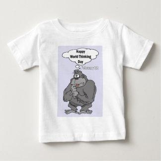 Glückliche Weltdenkender Tag am 22. Februar Baby T-shirt