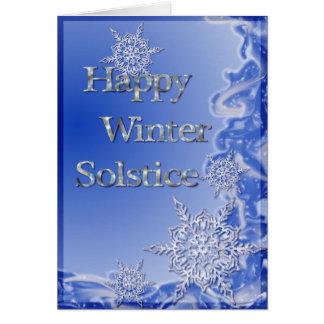Glückliche Winter-Sonnenwende Grußkarte