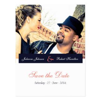 Glückliche zusammen   Foto-Save the Date Postkarte