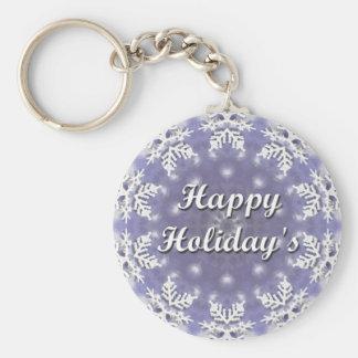 Glücklichen Feiertags Standard Runder Schlüsselanhänger