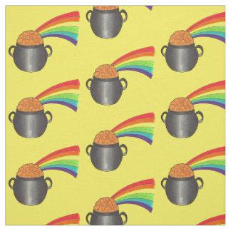 Glücklichen Goldschatz-Regenbogen-St Patrick Stoff