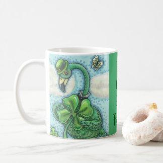 Glücklichen irischen Flamingo ST PATRICK Kaffeetasse