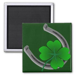 Glücklichen irischen Magnet-Shirt-St Patrick Quadratischer Magnet
