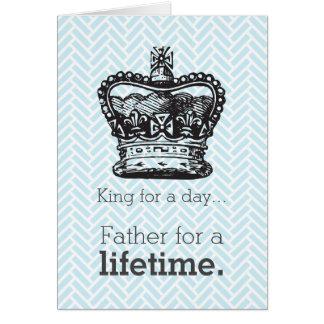 Glücklichen Pappys Tag - König für einen Tag Karte