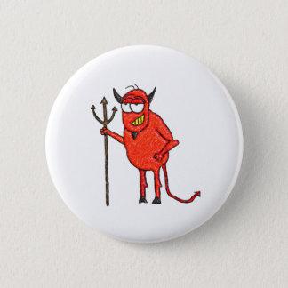 Glücklichen Satans Grill Runder Button 5,1 Cm