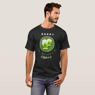 Glücklichen St Patrick Blatt-Klee Tagesdes T-Shirt