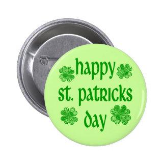 Glücklichen St Patrick Tag /2 Anstecknadelbuttons