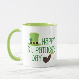 Glücklichen St Patrick Tag/der Hut des Kobolds Tasse