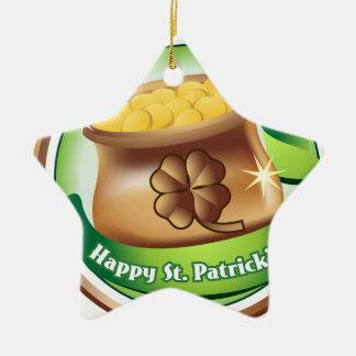 Glücklichen St Patrick Tag, irischer Keramik Ornament