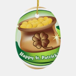 Glücklichen St Patrick Tag, irischer Ovales Keramik Ornament
