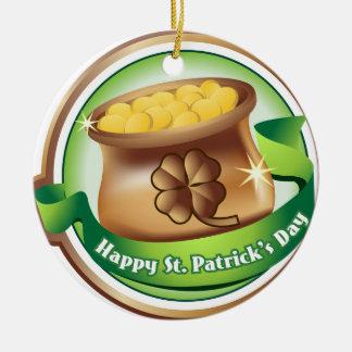 Glücklichen St Patrick Tag, irischer Rundes Keramik Ornament