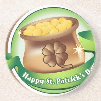 Glücklichen St Patrick Tag, irischer Sandstein Untersetzer
