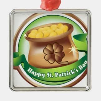 Glücklichen St Patrick Tag, irischer Silbernes Ornament