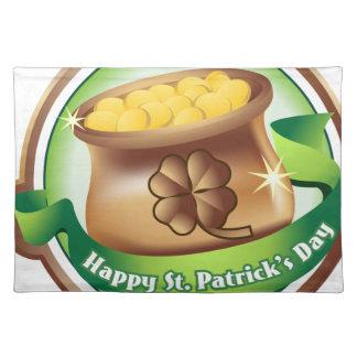 Glücklichen St Patrick Tag, irischer Stofftischset
