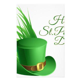Glücklichen St Patrick Tag, irisches Hutheiliges Briefpapier