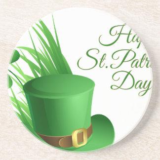 Glücklichen St Patrick Tag, irisches Hutheiliges Getränkeuntersetzer