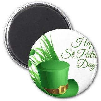 Glücklichen St Patrick Tag, irisches Hutheiliges Runder Magnet 5,7 Cm