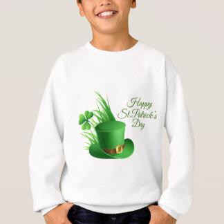 Glücklichen St Patrick Tag, irisches Hutheiliges Sweatshirt