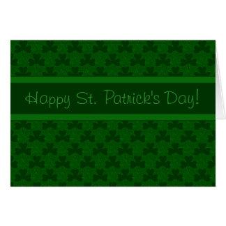 Glücklichen St Patrick Tag Karte