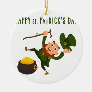 Glücklichen St Patrick Tag Keramik Ornament