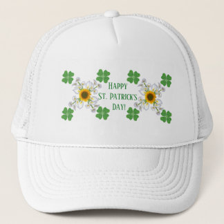 Glücklichen St Patrick Tag! Klee mit Calla Truckerkappe