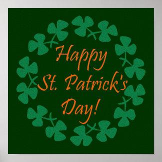 Glücklichen St Patrick Tag Poster