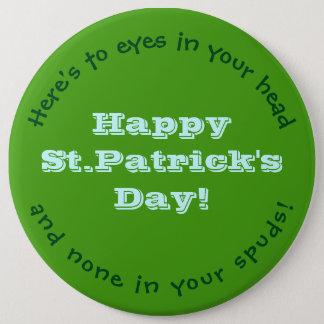 Glücklichen St Patrick Tag Runder Button 15,3 Cm
