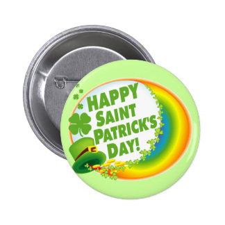Glücklichen St Patrick Tag! Runder Button 5,7 Cm
