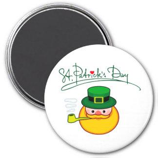 Glücklichen St Patrick Tag! Runder Magnet 7,6 Cm