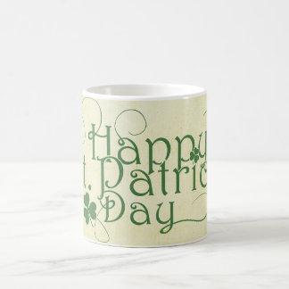 Glücklichen St Patrick Tag rustikal Kaffeetasse