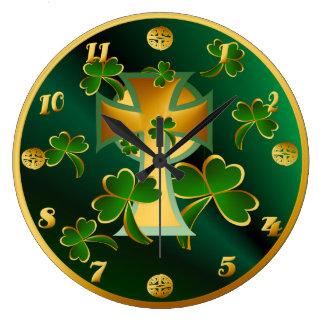 Glücklichen St Patrick Tag zu Ihnen! - Dunkelheit Große Wanduhr