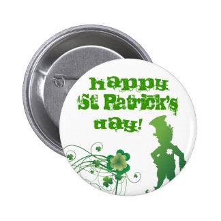 Glücklichen St Patrick, Tages! Runder Button 5,7 Cm